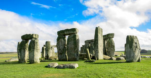 Stonehenge. In the beautiful bright sun Royalty Free Stock Photo