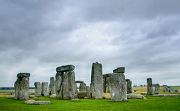 Stonehenge, bevindende stenen Royalty-vrije Stock Fotografie