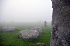 Stonehenge bij de dageraad Stock Afbeelding