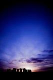 Stonehenge bij zonsondergang Royalty-vrije Stock Foto's