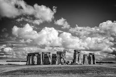 Stonehenge, Black and white, United Kingdom. Stonehenge in Black and white, United Kingdom royalty free stock image