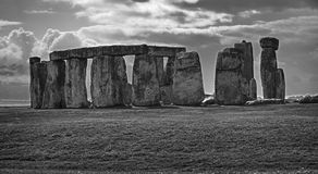 Stonehenge black and white2 Royalty Free Stock Images