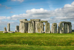 Stonehenge with Blue Sky Stock Image