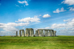 Stonehenge with Blue Sky Stock Photos