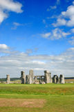 Stonehenge with Blue Sky, United Kingdom Stock Photo