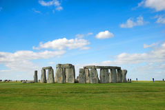 Stonehenge with Blue Sky, United Kingdom Stock Image