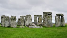Stonehenge circle with no people, close up royalty free stock images