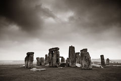 Stonehenge. With cloud near London as the National Heritage site of UK royalty free stock photo