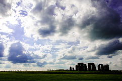 Stonehenge Clouds. Stonehenge on a cloudy day - mysterious Royalty Free Stock Photos