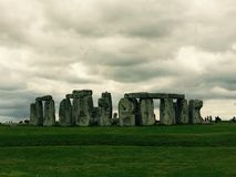 Stonehenge. On a cloudy day royalty free stock images