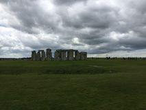 Stonehenge On A Cloudy Day. Stonehenge seen from a distance on a cloudy day royalty free stock photos