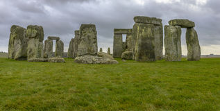 Stonehenge in a cloudy day in Wiltshire, England Stock Images