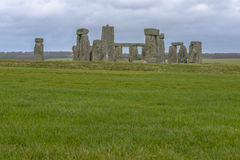 Stonehenge in a cloudy day in Wiltshire, England Royalty Free Stock Photo