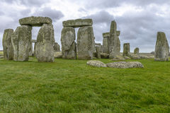 Stonehenge in a cloudy day in Wiltshire, England Royalty Free Stock Photography