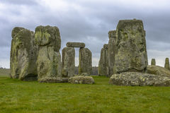 Stonehenge in a cloudy day in Wiltshire, England Stock Photos