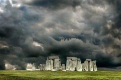 Stonehenge. With cloudy sky, England. UK stock images