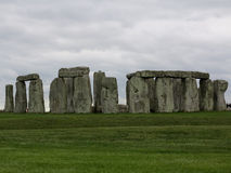 Stonehenge. On a cold and gloomy day in the United Kingdom royalty free stock photography