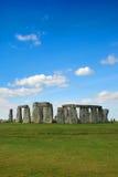 Stonehenge con cielo blu Fotografie Stock