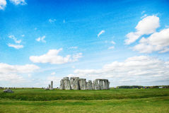 Stonehenge con cielo blu, Regno Unito Immagini Stock