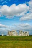 Stonehenge con cielo blu, Regno Unito Fotografia Stock