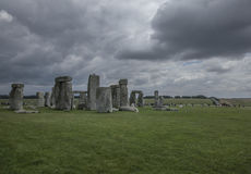 Stonehenge - dark and moody. This image shows Stonehenge is a prehistoric monument in Wiltshire, England, 2 miles west of Amesbury and 8 miles north of stock photos