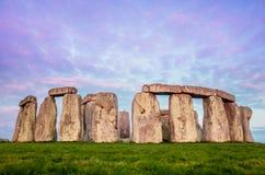Stonehenge in Dawn Royalty-vrije Stock Foto's