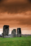 Stonehenge at dawn. Mysterious construction in England - Stonehenge at dawn royalty free stock photo