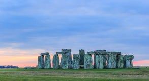 Stonehenge at Dawn. The famous Stonehenge around Fall royalty free stock photos