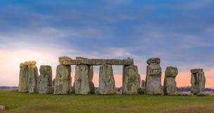 Stonehenge at Dawn. The famous Stonehenge around Fall royalty free stock photography