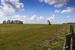 Stonehenge. Daylight in Stonehenge. Historic stones of England stock images