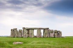 Stonehenge, de Vlakte van Salisbury, Wiltshire, Engeland stock fotografie