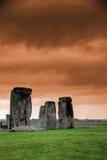 Stonehenge an der Dämmerung Lizenzfreies Stockfoto