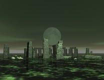Stonehenge. Digital 3d visualization of stonehenge Stock Photo