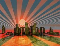 Stonehenge. Digital 3d visualization of stonehenge Stock Image