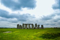 Stonehenge from the distance stock image