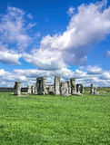 Stonehenge with dramatic sky in England Royalty Free Stock Images