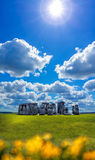 Stonehenge with dramatic sky in England Royalty Free Stock Photo
