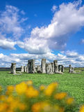 Stonehenge with dramatic sky in England Royalty Free Stock Photography