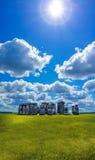 Stonehenge with dramatic sky in England Stock Photo
