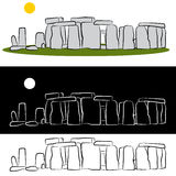Stonehenge Drawing Stock Photos