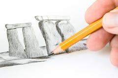 Stonehenge drawing Royalty Free Stock Photography