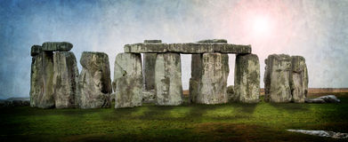 Stonehenge Druid Ruins Pagan Festival Stock Photography