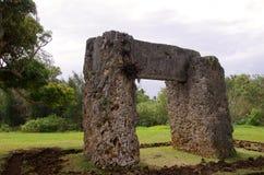 Stonehenge du Tonga Photographie stock