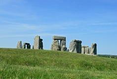 Stonehenge, een oud voorhistorisch steenmonument stock afbeeldingen