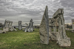 Stonehenge em Ada Ciganlija, Belgrado Fotografia de Stock
