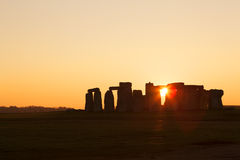 Stonehenge en la puesta del sol Imagenes de archivo