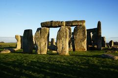 Monument Stonehenge in England stock images