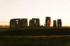 Stonehenge mysterious monument in sunset royalty free stock images