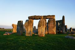 Stonehenge mysterious monument in England stock photo