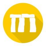 Stonehenge, England, icon with long shadow. Vector icon Stock Image